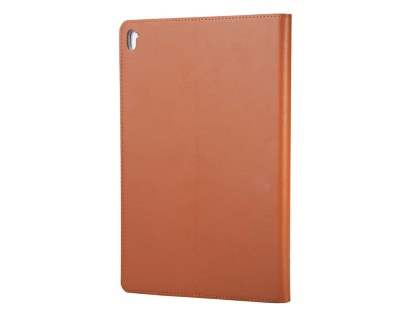 Premium Genuine Leather Portfolio Case with Stand for iPad Pro 9.7 - Brown Leather Flip Case