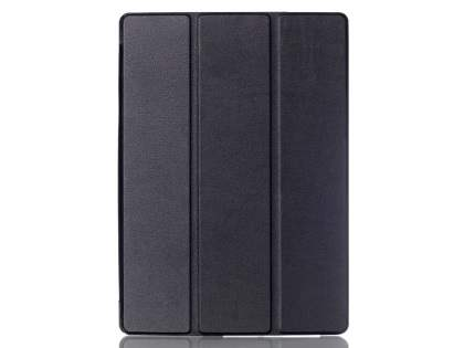 Premium Slim Synthetic Leather Flip Case with Stand for iPad Pro 9.7 - Classic Black
