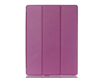 Premium Slim Synthetic Leather Flip Case with Stand for iPad Pro 9.7 - Purple