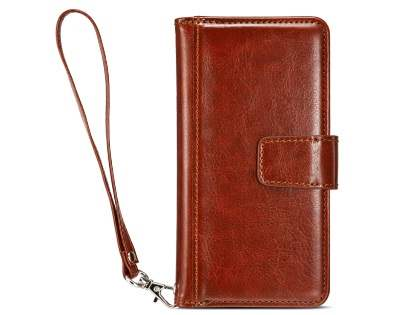 2-in-1 Synthetic Leather Wallet Case for iPhone 6s/6 - Brown Leather Wallet Case