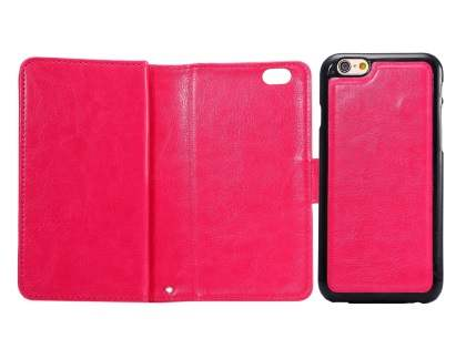 2-in-1 Synthetic Leather Wallet Case for iPhone 6s/6 - Pink