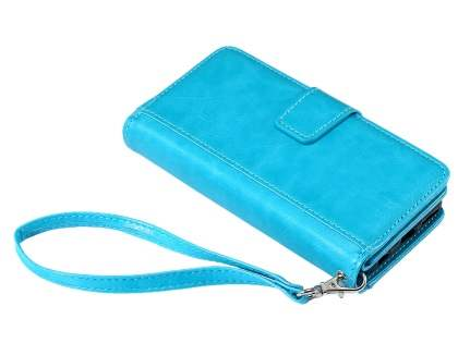2-in-1 Synthetic Leather Wallet Case for iPhone 6s/6 - Blue Leather Wallet Case