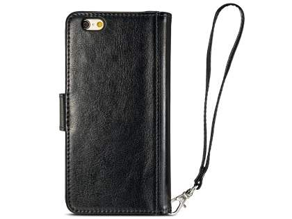 2-in-1 Synthetic Leather Wallet Case for iPhone 6s/6 4.7 inches - Classic Black