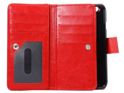 2-in-1 Synthetic Leather Wallet Case for iPhone 6s Plus/6 Plus - Red
