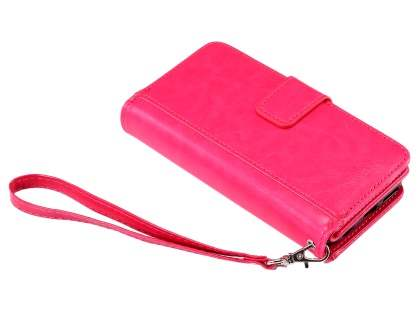 2-in-1 Synthetic Leather Wallet Case for iPhone 6s Plus/6 Plus - Pink