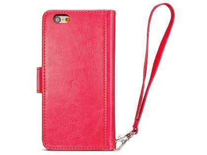2-in-1 Synthetic Leather Wallet Case for iPhone 6s Plus / 6 Plus - Pink