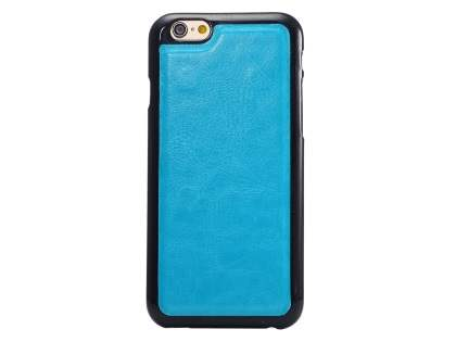 2-in-1 Synthetic Leather Wallet Case for iPhone 6s Plus / 6 Plus - Blue