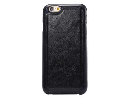 2-in-1 Synthetic Leather Wallet Case for iPhone 6s Plus/6 Plus - Classic Black