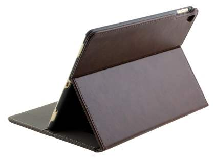 Synthetic Leather Case with Stand for iPad Pro 9.7 - Brown Leather Flip Case