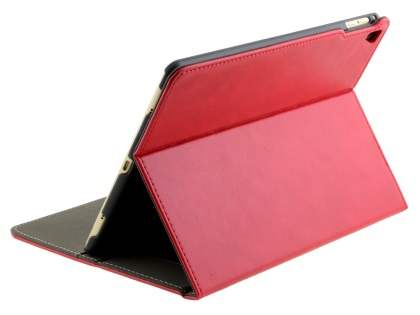 Synthetic Leather Case with Stand for iPad Pro 9.7 - Red Leather Flip Case
