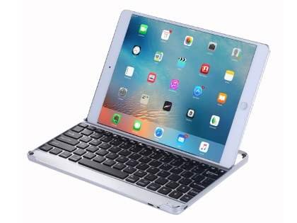 Aluminium Bluetooth Keyboard for iPad 9.7 (2017)/Pro 9.7/Air 2/Air - Black/Silver Keyboard