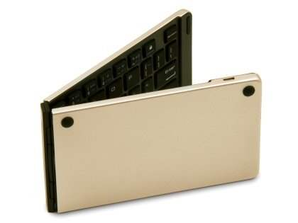 Foldable Bluetooth Mini Keyboard - Gold Keyboard
