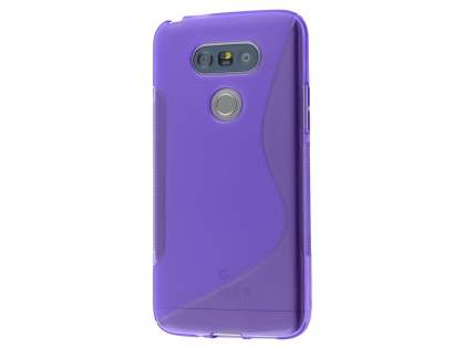 Wave Case for LG G5 - Frosted Purple/Purple Soft Cover