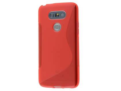 Wave Case for LG G5 - Frosted Red/Red Soft Cover