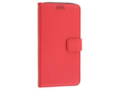 Slim Synthetic Leather Wallet Case with Stand for LG G5 - Red