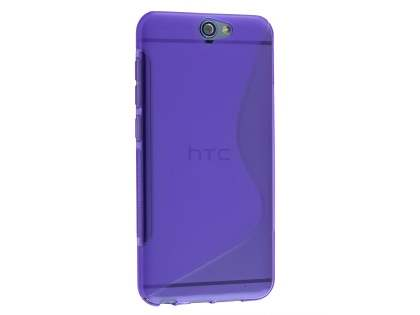 Wave Case for HTC Telstra Signature Premium - Frosted Purple/Purple Soft Cover