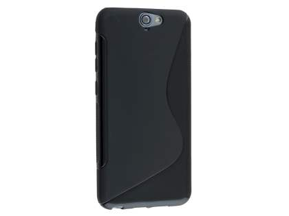Wave Case for HTC Telstra Signature Premium - Frosted Black/Black Soft Cover