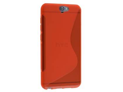 Wave Case for HTC Telstra Signature Premium - Frosted Scarlet/Scarlet Soft Cover