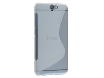 Wave Case for HTC Telstra Signature Premium - Frosted Clear/Clear Soft Cover