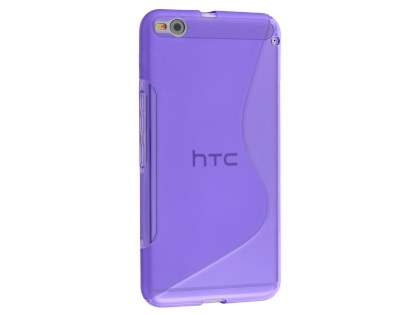HTC One X9 Wave Case - Frosted Purple/Purple Soft Cover