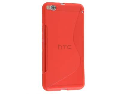 HTC One X9 Wave Case - Frosted Red/Red Soft Cover