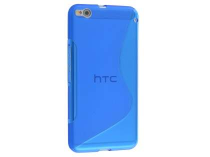 HTC One X9 Wave Case - Frosted Blue/Blue Soft Cover