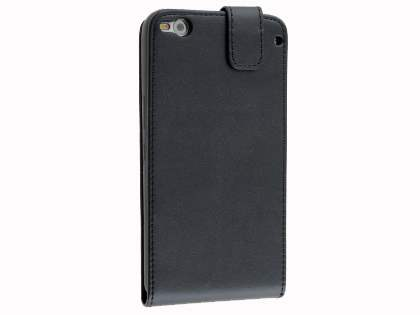 Synthetic Leather Flip Case for HTC One X9 - Classic Black