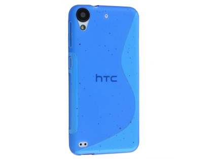 Wave Case for HTC Desire 530 - Frosted Blue/Blue Soft Cover