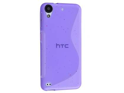 Wave Case for HTC Desire 530 - Frosted Purple/Purple Soft Cover