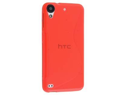 Wave Case for HTC Desire 530 - Frosted Red/Red Soft Cover