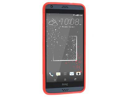 Wave Case for HTC Desire 530 - Frosted Red/Red