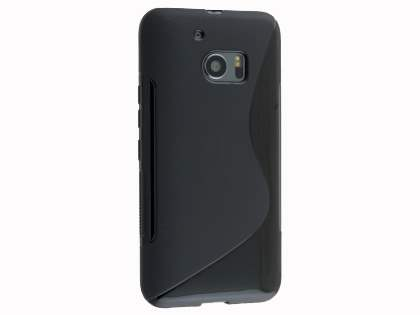 Wave Case for HTC 10 - Frosted Black/Black Soft Cover