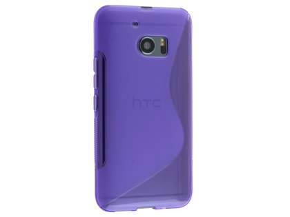 Wave Case for HTC 10 - Frosted Purple/Purple Soft Cover