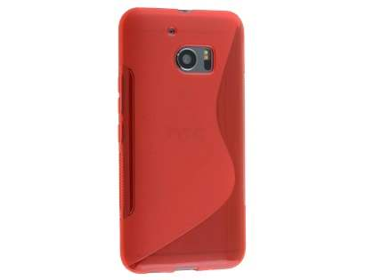 Wave Case for HTC 10 - Frosted Red/Red Soft Cover