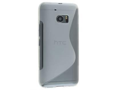Wave Case for HTC 10 - Frosted Clear/Clear Soft Cover