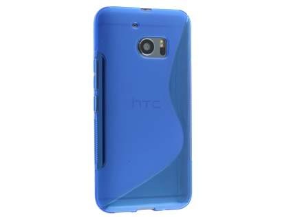 Wave Case for HTC 10 - Frosted Blue/Blue Soft Cover