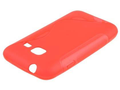 Samsung Galaxy J1 mini Wave Case - Frosted Red/Red
