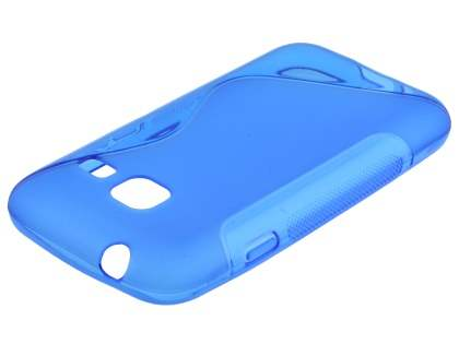 Wave Case for Samsung Galaxy J1 mini - Frosted Blue/Blue Soft Cover