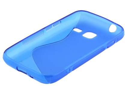 Wave Case for Samsung Galaxy J1 mini - Frosted Blue/Blue