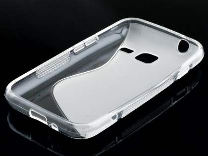 Samsung Galaxy J1 mini Wave Case - Frosted Clear/Clear