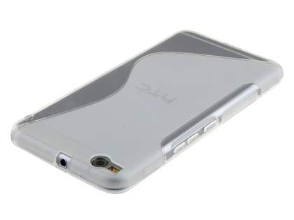 HTC One X9 Wave Case - Frosted Clear/Clear