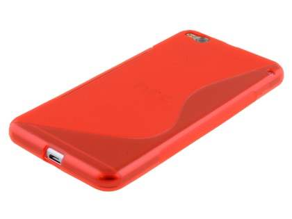 HTC One X9 Wave Case - Frosted Red/Red