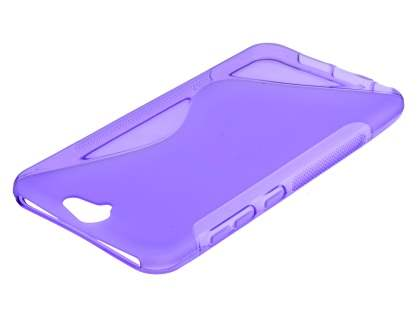 HTC Telstra Signature Premium Wave Case - Frosted Purple/Purple