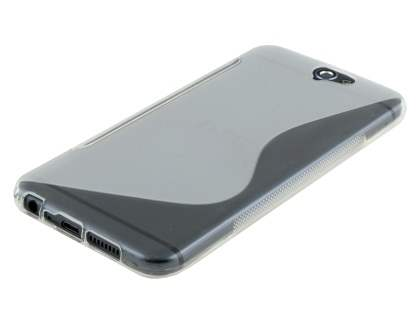 Wave Case for HTC Telstra Signature Premium - Frosted Clear/Clear