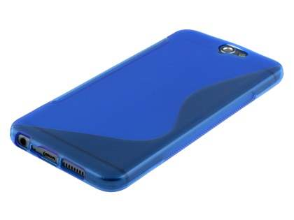 HTC Telstra Signature Premium Wave Case - Frosted Blue/Blue