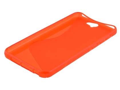 Wave Case for HTC Telstra Signature Premium - Frosted Scarlet/Scarlet