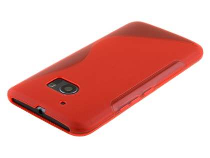 Wave Case for HTC 10 - Frosted Red/Red