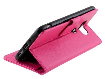 Slim Synthetic Leather Wallet Case with Stand for LG G5 - Pink