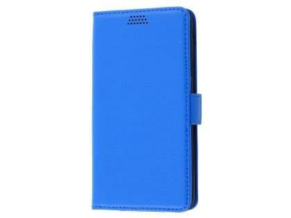 Slim Synthetic Leather Wallet Case with Stand for HTC Desire 530 - Blue