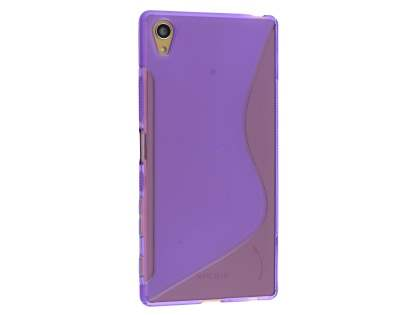 Wave Case for Sony Xperia Z5 Premium - Frosted Purple/Purple Soft Cover